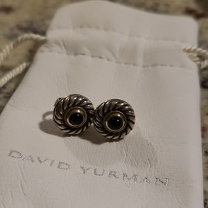 David Yurman black onyx earrings